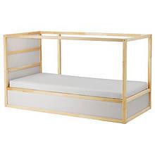 KURA КЮРА, Ліжко двостороннє, білий, сосна90x200 см