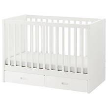 STUVA СТУВА / FRITIDS ФРІТІДС, Дитяче ліжко з шухлядами, білий60х120 см