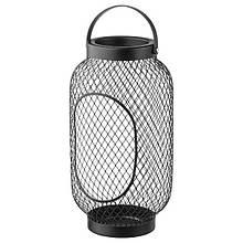 TOPPIG ТОППІГ, Ліхтар для формової свічки, чорний36 см