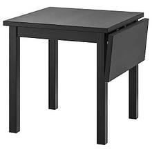 NORDVIKEN НОРДВІКЕН, Стіл із відкидною дошкою, чорний74/104x74 см