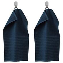 VÅGSJÖN ВОГШЕН, Гостьовий рушник, темно-синій 30x50 см / 2 шт
