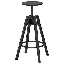 DALFRED ДАЛЬФРЕД, Барний стілець, чорний63-74 см