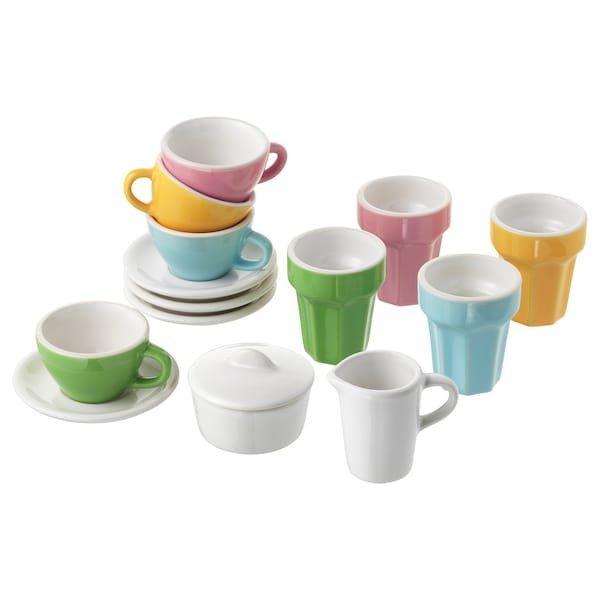 DUKTIG ДУКТІГ, Набір для кави/чаю 10 предметів, різнобарвний