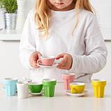 DUKTIG ДУКТІГ, Набір для кави/чаю 10 предметів, різнобарвний, фото 2