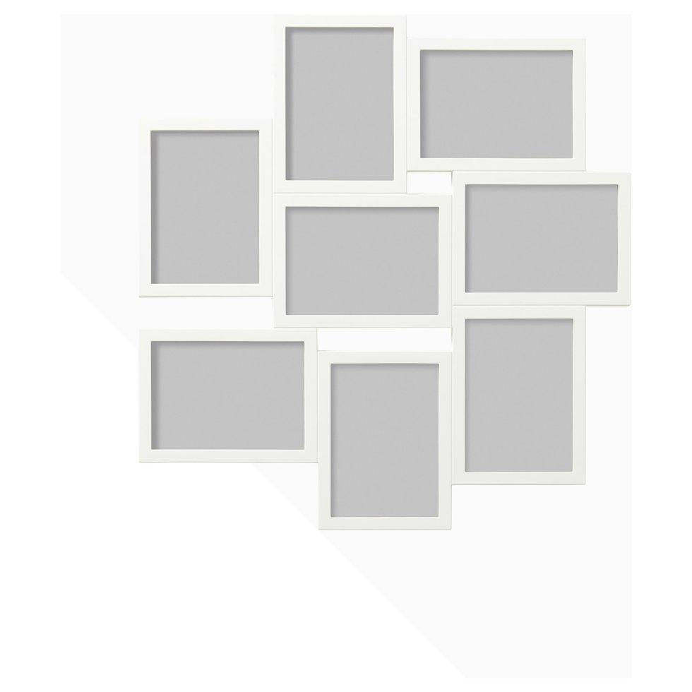 VÄXBO ВЕКСБУ, Рамка для колажу на 8 фотографій, білий13x18 см