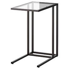 VITTSJÖ ВІТТШЕ, Підставка для ноутбука, чорно-коричневий, скло35x65 см