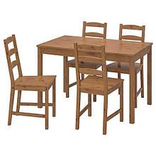 JOKKMOKK ЙОКМОКК, Стіл+4 стільці, морилка антик