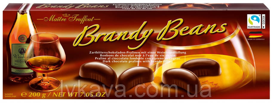 Конфеты пралине Brandy Beans  Maitre Truffout  , 200 гр, фото 2