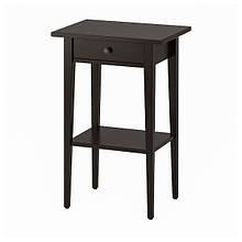 HEMNES ХЕМНЕС, Приліжковий столик, чорно-коричневий46x35 см