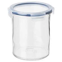 IKEA 365+, Банка із кришкою, скло, пластик1.7 л