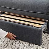 VALLENTUNA ВАЛЛЕНТУНА, 3-місний модульний диван-ліжко, з вікритою секцією, ХІЛЛАРЕД темно-сірий, фото 4