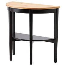 ARKELSTORP АРКЕЛЬСТОРП, Напівкруглий столик, чорний80x40x75 см