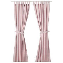 LENDA ЛЕНДА, Штори із зав'обов'язками, 1 пара, світло-рожевий140х300 см