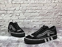 Унисекс кроссовки черного цвета Vans Old School. Мужские и женские кроссовки черные Ванс Олд Скул.
