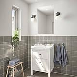 HEMNES ХЕМНЕС / RÄTTVIKEN РЕТТВІКЕН, Меблі для ванної кімнати, набір 4шт, білий, RUNSKÄR РУНШЕР змішувач62 см, фото 2