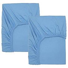 LEN ЛЕН, Простирад на резинці ліж д/немовлят, світло-синій60x120 см