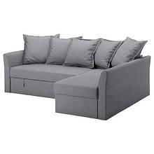 HOLMSUND ХОЛЬМСУНД, Кутовий диван-ліжко, НОРДВАЛЛА класичний сірий
