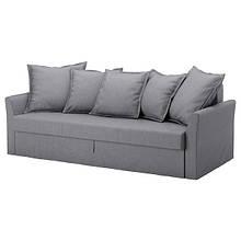 HOLMSUND ХОЛЬМСУНД, 3-місний диван-ліжко, НОРДВАЛЛА класичний сірий