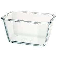 IKEA 365+, Харчовий контейнер, прямокутний, скло1.8 л