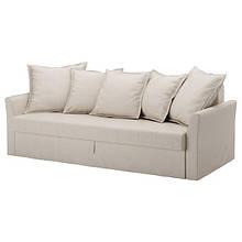 HOLMSUND ХОЛЬМСУНД, 3-місний диван-ліжко, НОРДВАЛЛА бежевий