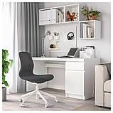 LÅNGFJÄLL ЛОНГФЬЄЛЛЬ, Офісний стілець, ГУННАРЕД темно-сірий, білий, фото 6