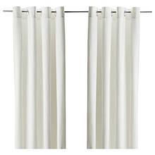 MERETE МЕРЕТЕ, Світлонепроникні штори, пара, білий145x300 см