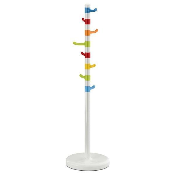 KROKIG КРОКІГ, Вішак для одягу, білий, різнобарвний128 см
