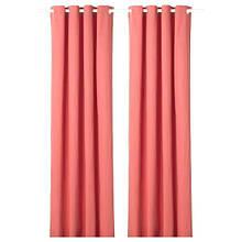MERETE МЕРЕТЕ, Світлонепроникні штори, пара, світлий коричнево-червоний145х300 см