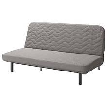 NYHAMN НІХАМН, 3-місний диван-ліжко, матрац з блоком незалежних пружин, КНІСА сірий/бежевий