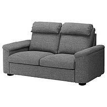 LIDHULT ЛІДХУЛЬТ, 2-місний диван-ліжко, ЛЕЙДЕ сірий/чорний