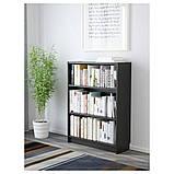 BILLY БІЛЛІ, Книжкова шафа, чорно-коричневий80х28х106 см, фото 2