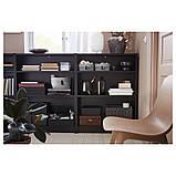 BILLY БІЛЛІ, Книжкова шафа, чорно-коричневий80х28х106 см, фото 3