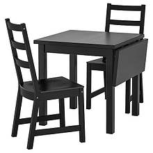 NORDVIKEN НОРДВІКЕН / NORDVIKEN НОРДВІКЕН, Стіл+2 стільці, чорний, чорний74/104x74 см