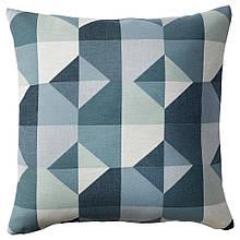 SVARTHÖ СВАРТЕ, Чохол для подушки, зелений/блакитний50x50 см