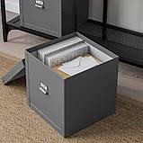 FJÄLLA ФЬЄЛЛА, Коробка для зберігання з кришкою, темно-сірий30x31x30 см, фото 2