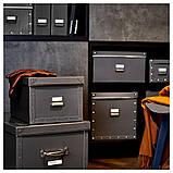 FJÄLLA ФЬЄЛЛА, Коробка для зберігання з кришкою, темно-сірий30x31x30 см, фото 4