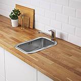 BOHOLMEN БУХОЛЬМЕН, Одинарна врізна мийка, нержавіюча сталь47x30 см, фото 2