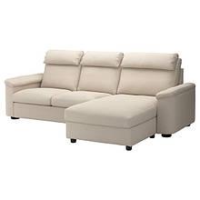 LIDHULT ЛІДХУЛЬТ, 3-місний диван-ліжко, з канапою, ГАССЕБОЛЬ світло-бежевий