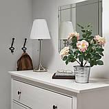 FEJKA ФЕЙКА, Штучна рослина в горщику, для приміщення/вулиці, Троянда рожевий12 см, фото 2
