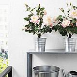 FEJKA ФЕЙКА, Штучна рослина в горщику, для приміщення/вулиці, Троянда рожевий12 см, фото 3