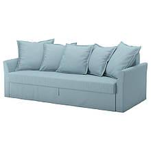 HOLMSUND ХОЛЬМСУНД, 3-місний диван-ліжко, ОРРСТА світло-синій
