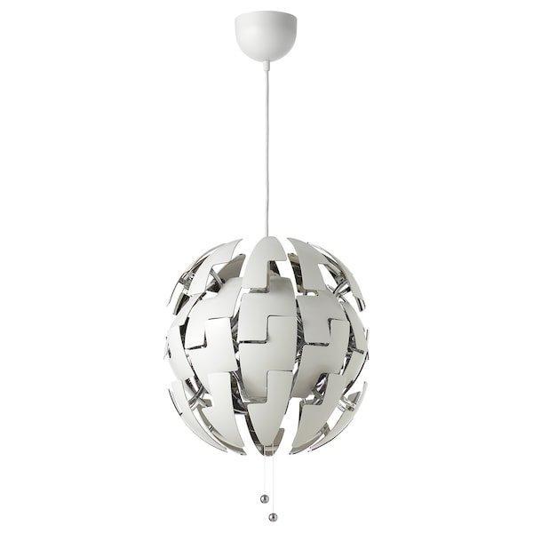 IKEA PS 2014 ІКЕА ПС 2014, Світильник підвісний, білий, сріблястий35 см