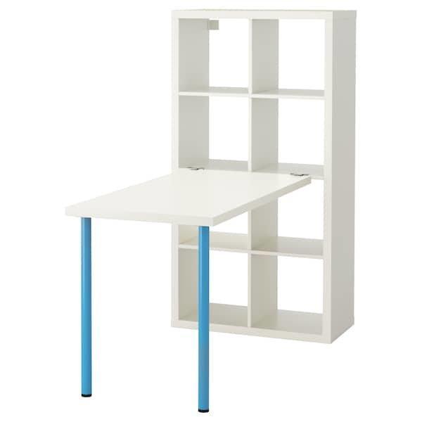 KALLAX КАЛЛАКС, Письмовий стіл, комбінація, білий, синій77x147x159 см