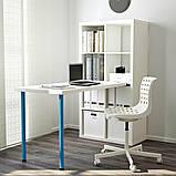 KALLAX КАЛЛАКС, Письмовий стіл, комбінація, білий, синій77x147x159 см, фото 2