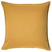 GURLI ГУРЛІ, Чохол для подушки, золотаво-жовтий50x50 см
