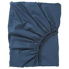 ULLVIDE УЛЛЬВІДЕ, Простирадло на резинці, темно-синій90x200 см