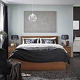 MALM МАЛЬМ, Каркас ліжка, високий, коричнева морилка ясеневий шпон, ЛУРОЙ160x200 см, фото 5
