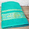 Банное турецкое полотенца Бирюзовый цвет, фото 2