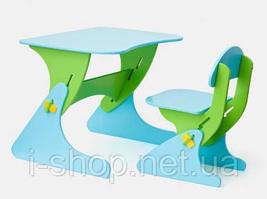 Стул и стол с регулируемой высотой