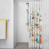 BOTAREN БОТАРЕН, Штанга для шторки для душу, білий70-120 см, фото 3